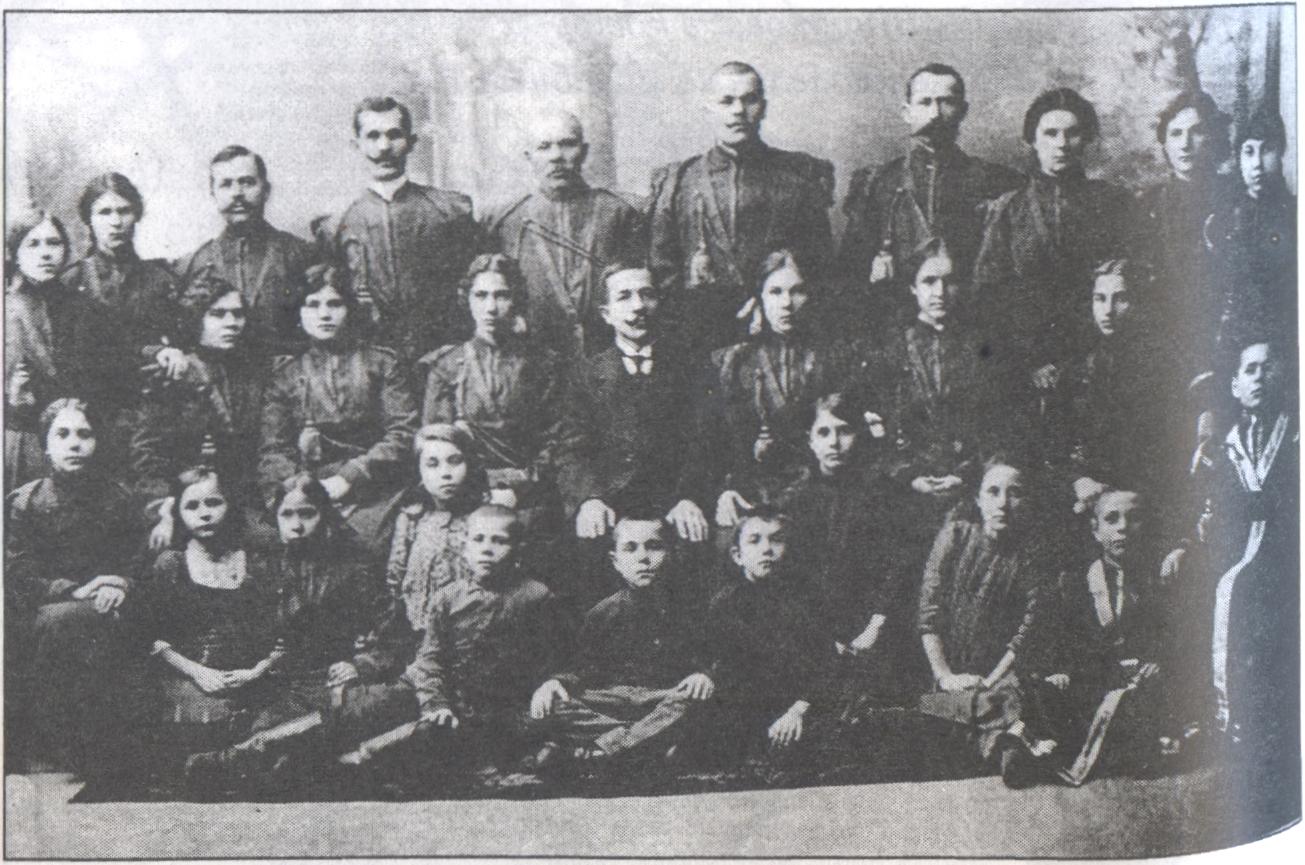 Хор Свято-Воскресенского храма. Фото 1914 г.