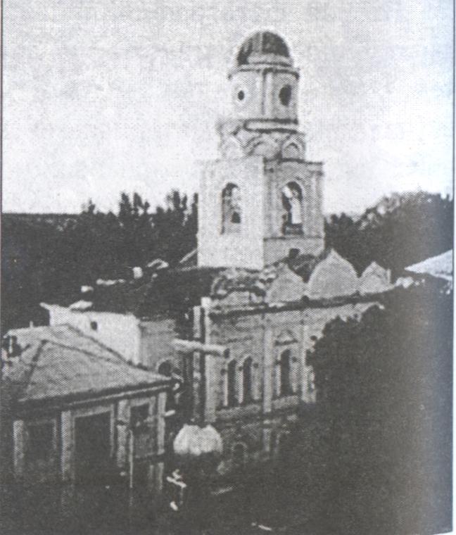 Святогорский монастырь. Храм Покрова Божией Матери до реставрации