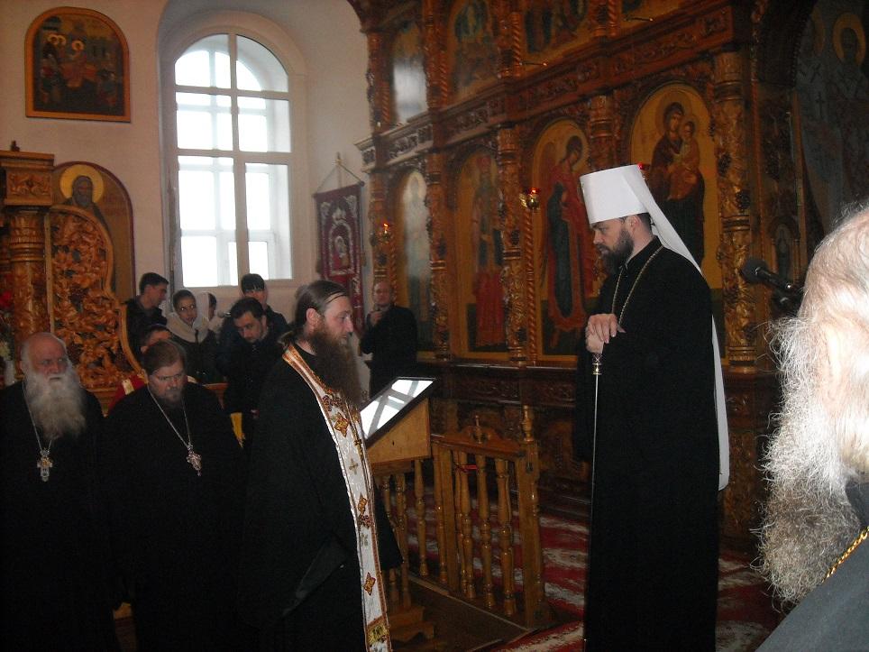 Протоиерей Алексий (Бездушный) поблагодарил Преосвященнейшего митрополита Митрофана