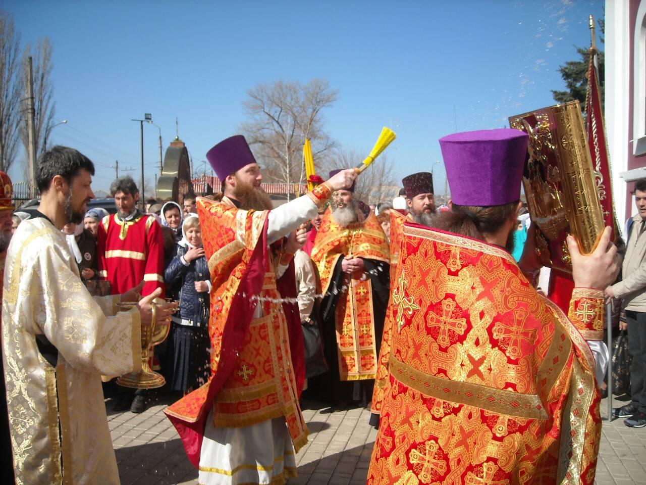 Празднование престольного дня Свято-Воскресенского храма