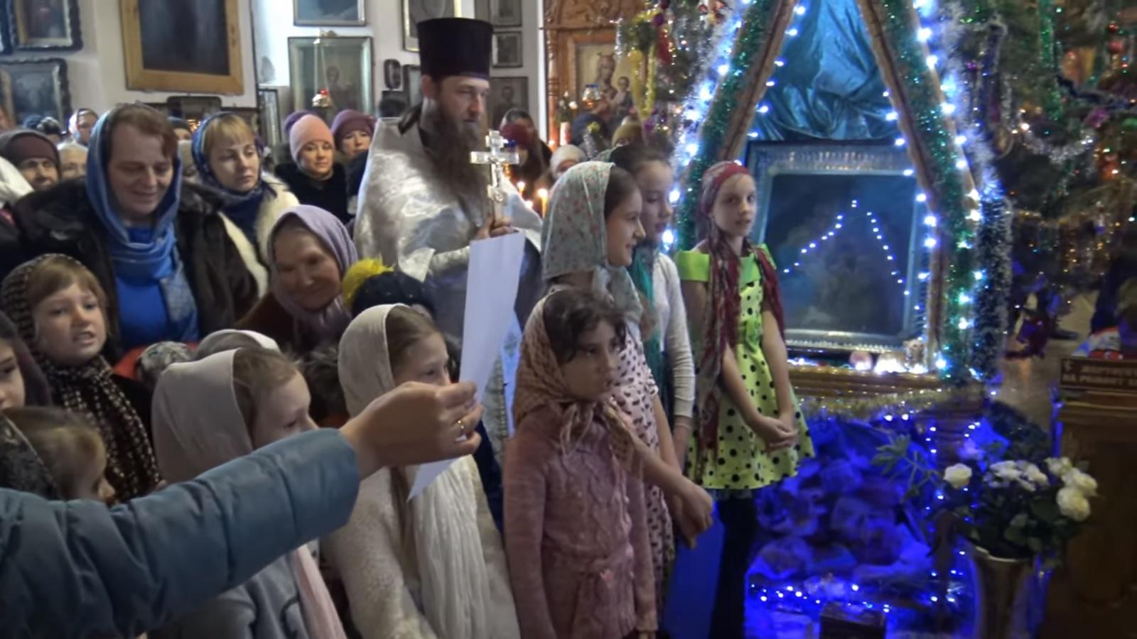 Поздравление с Рождественскими Святками о.Алексея от прихожан