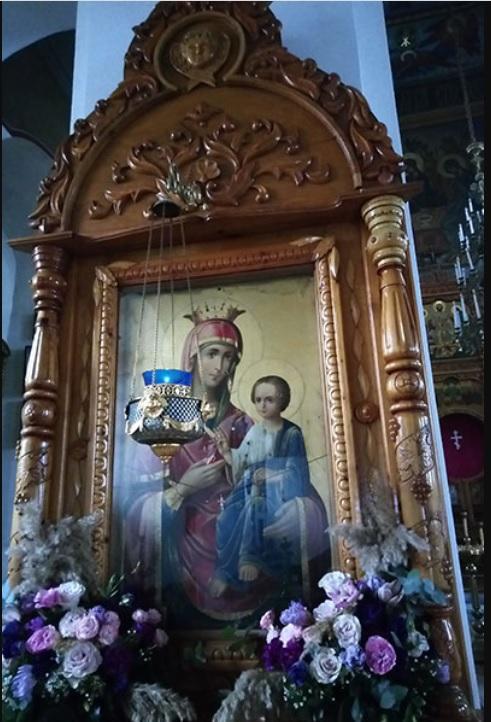 Расстрелянная Иверская икона Богородицы